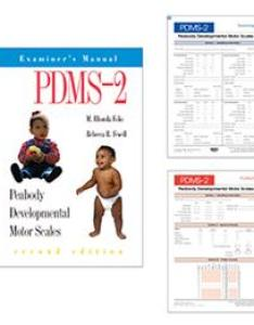 Pdms peabody developmental motor scales  second edition complete test also rh proedinc