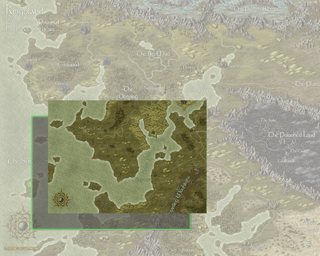 Cut a section from a larger map and expand it.