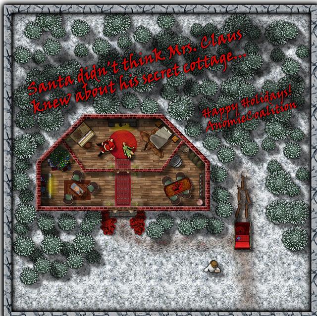 Santa Murder Scene