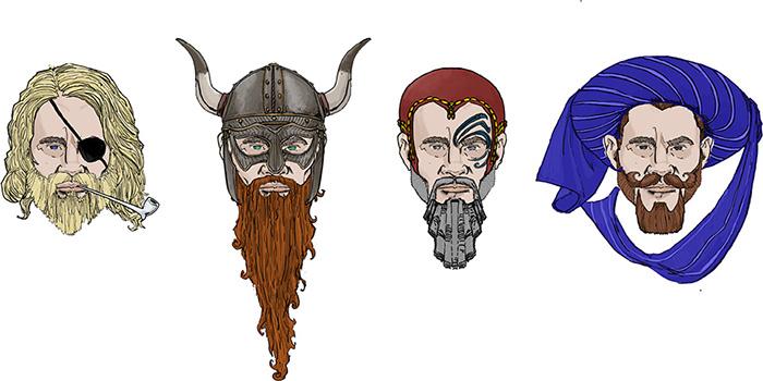 Sample Dwarven Faces