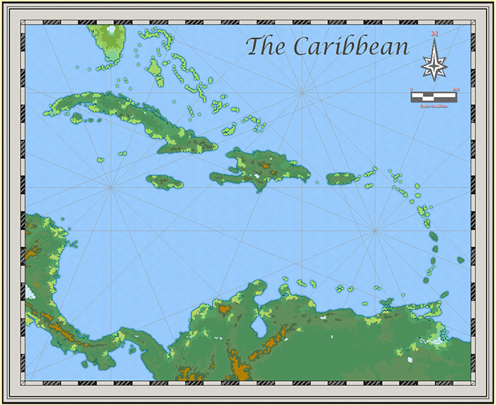 Carribean Hex Map