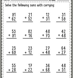 2-Digit Addition with Carrying   Math Worksheets [ 2560 x 1810 Pixel ]
