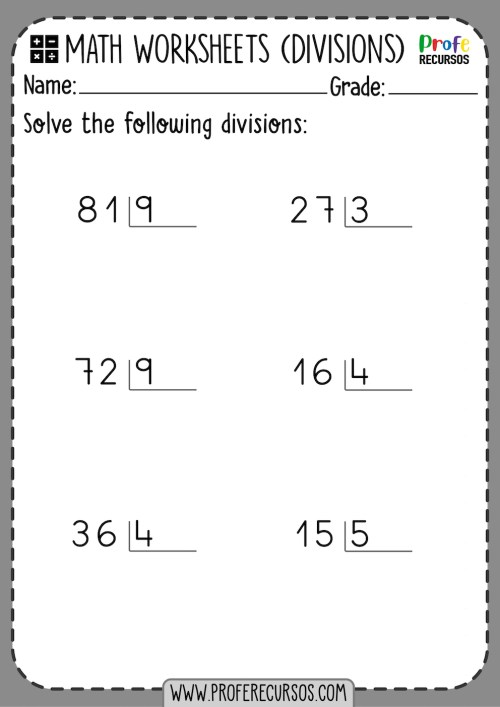 small resolution of 2-Digit by 1-Digit Division Worksheets