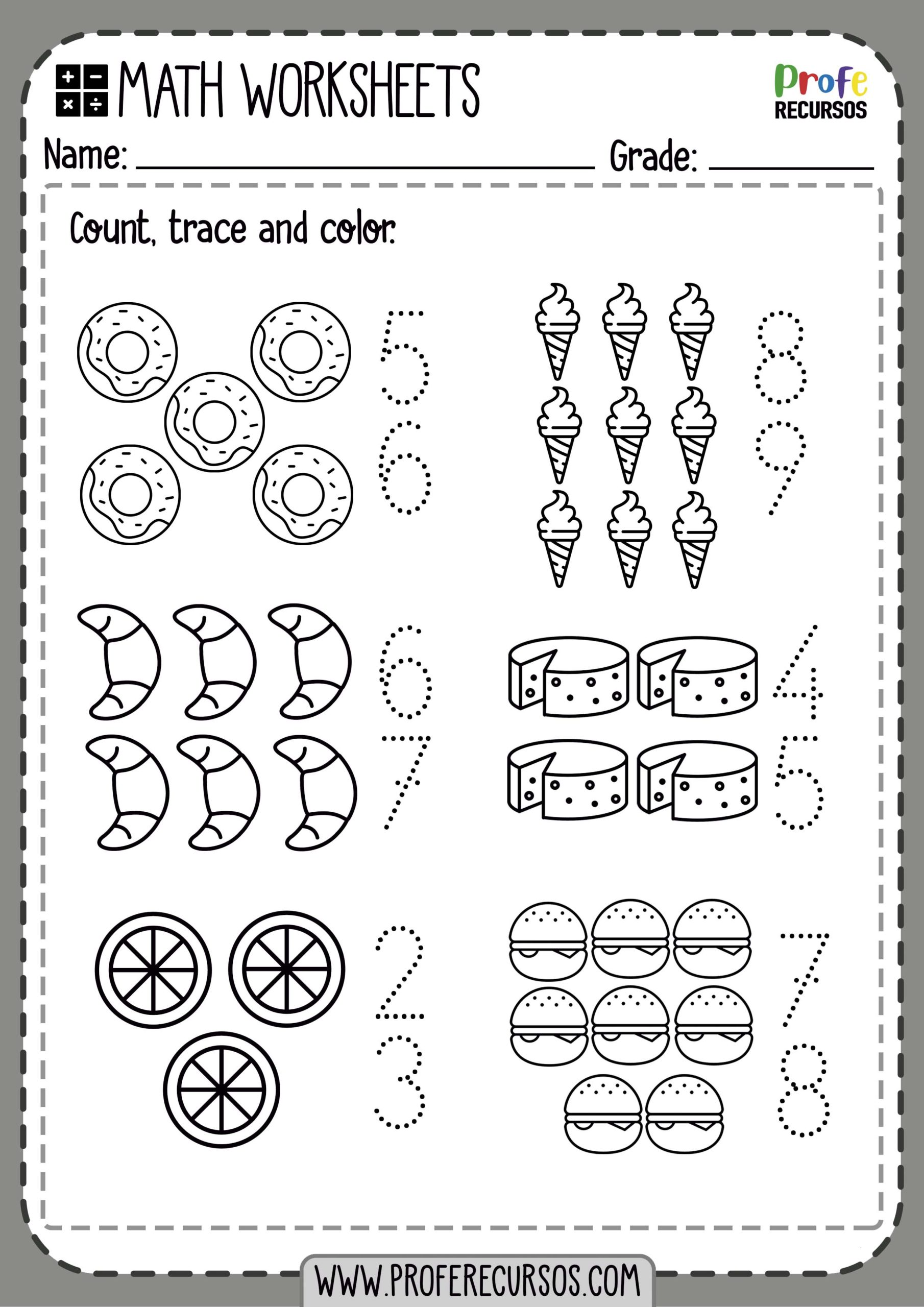 Free Printable Counting Worksheets For Kindergarten