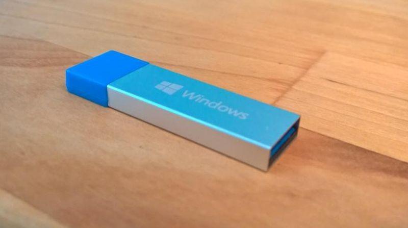 Imagen de Windows 10 en su versión USB
