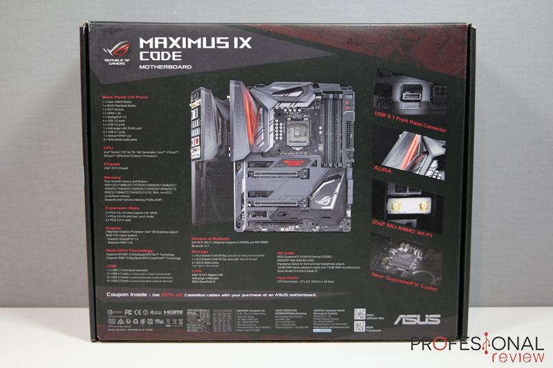 Asus Maximus IX Code Review en Español (Análisis completo)