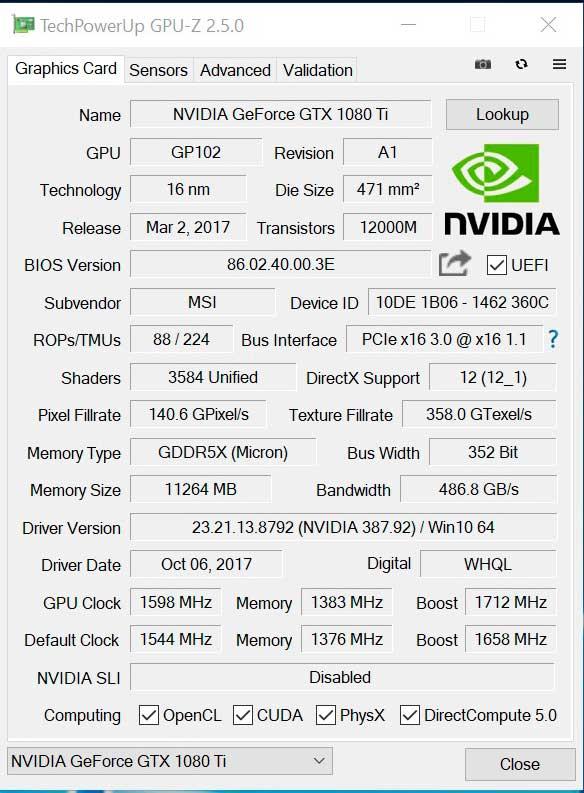 MSI GTX 1080 Ti Gaming X Trio Review en Español (Análisis