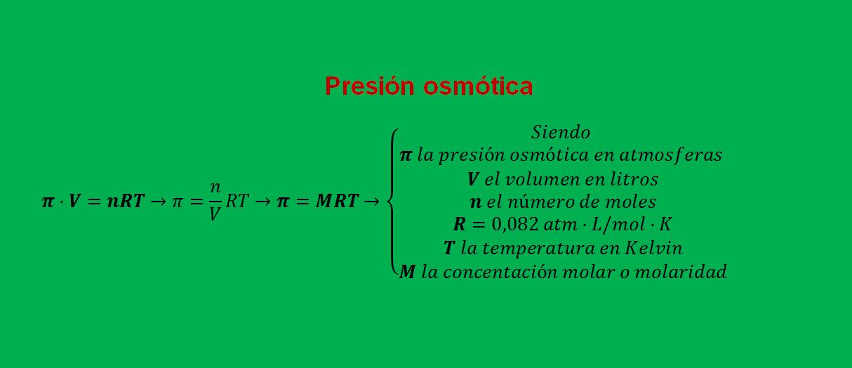 presion osmotica ejercicios resueltos formula