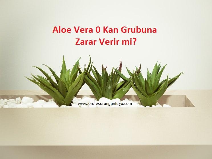 Aloe Vera 'nın 0 Kan Grubuna zararlımı