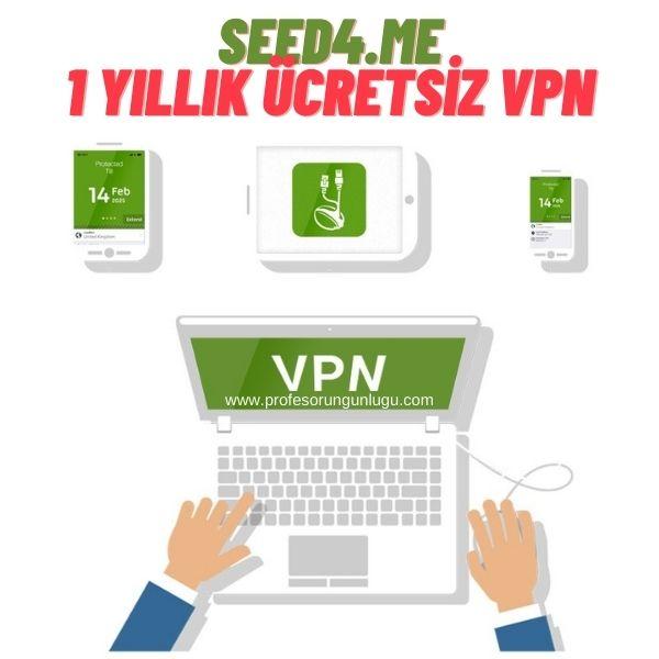 1 Yıl Ücretsiz VPN
