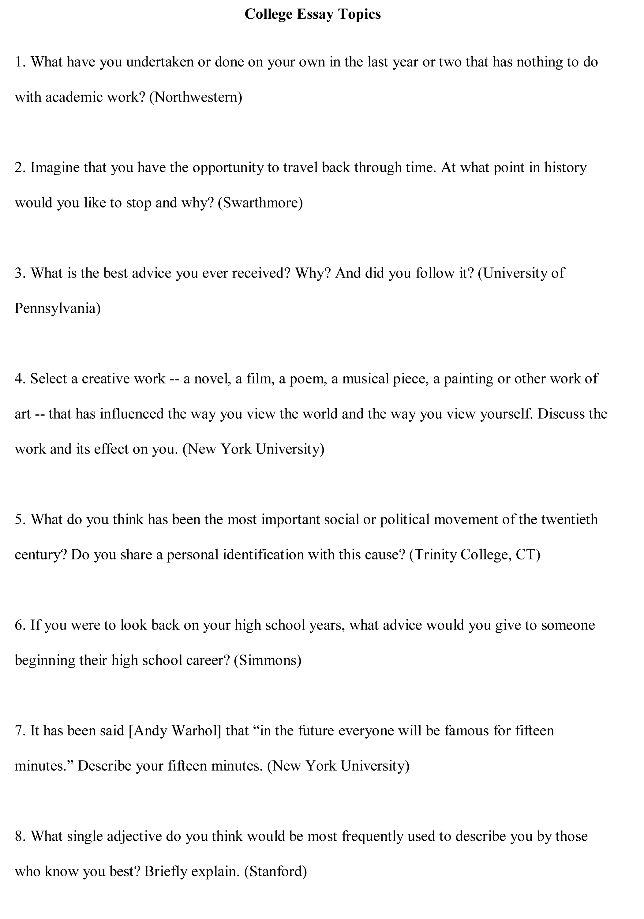 college essays online paper for college