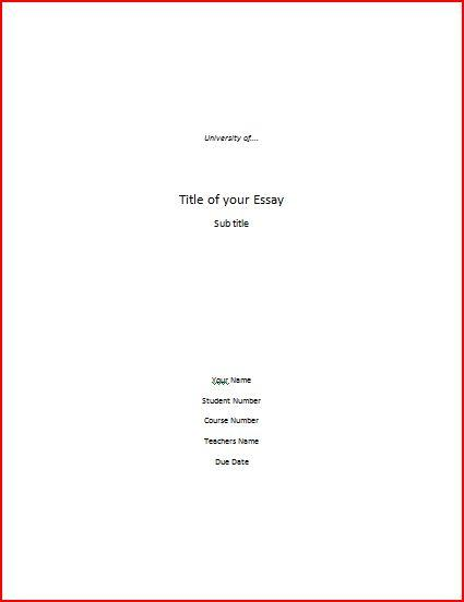 Cover Page For Essay Essay Cover Page Writing Help Cover Page Format