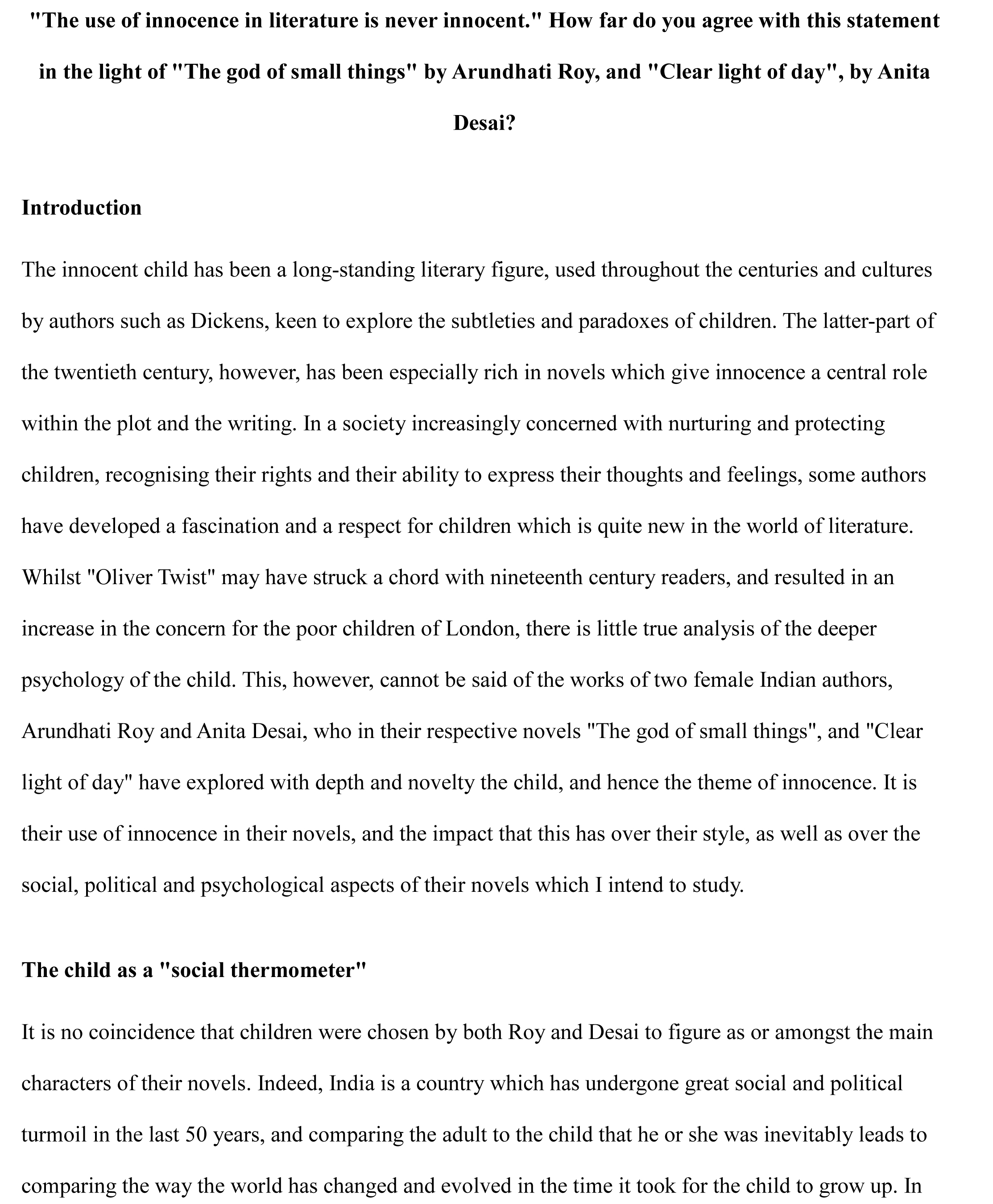 Examples Of Literary Essays Sample Literary Thesis Statements Sample