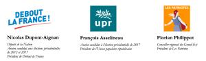 COMMUNIQUÉ DE PRESSE COMMUN DE NICOLAS DUPONT-AIGNAN, FRANÇOIS ASSELINEAU ET FLORIAN PHILIPPOT