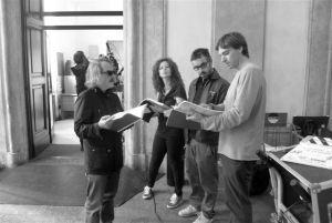 Eugène Green au travail. Crédits - Paolo Mariotti