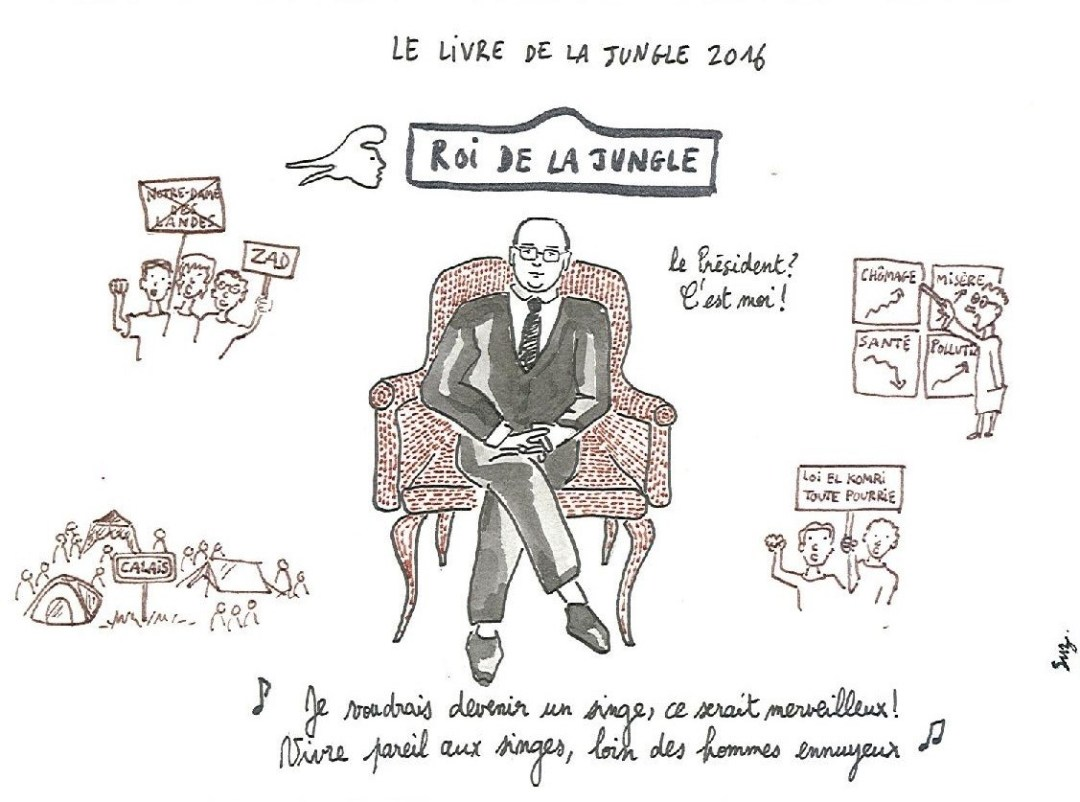 Suz - Le livre de la jungle 2016 (François Hollande)