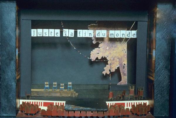 Maquette de Stéphanie Mathieu pour ''Juste la fin du monde'' de Jean-Luc Lagarce (2008)