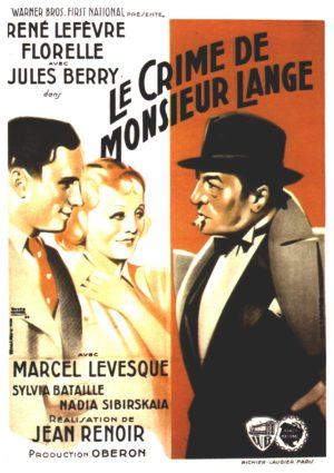 Jean Renoir, Le Crime de monsieur Lange (affiche)