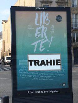 liberté trahie Bordeaux affiche (crédits : C. Lucas)