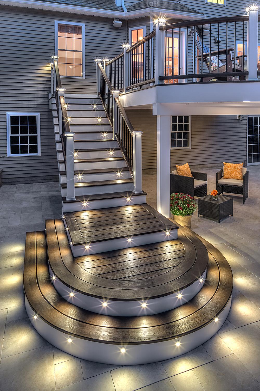 deck lighting installation in new