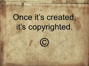 it's copyrighted
