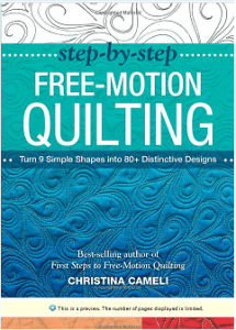 Step-by-step free motion quilting