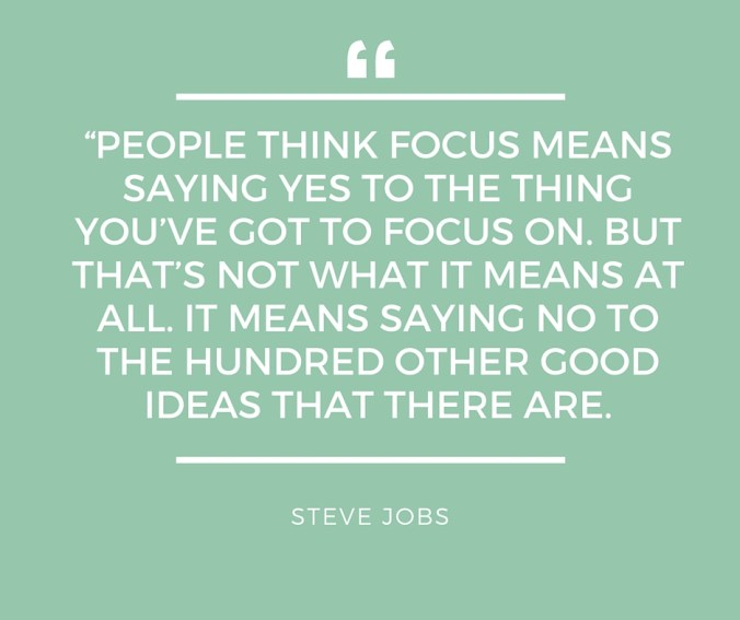 People think focus