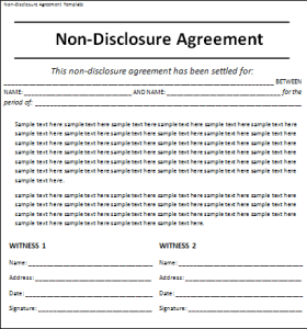 non-disclosure agreement template
