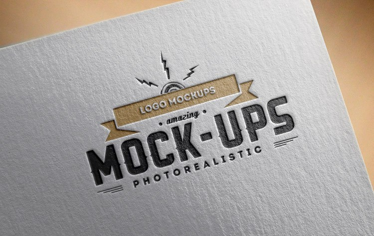 Logo Mockups Paper Editions - 3d logo MOCKUPS