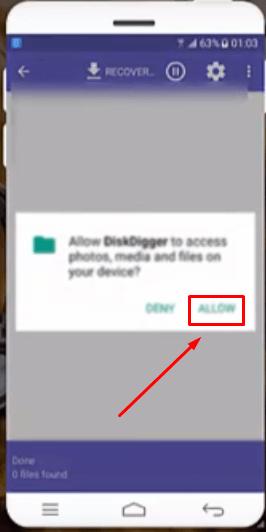 Allow DiskDigger