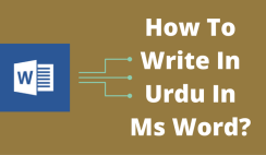 write in urdu in ms word