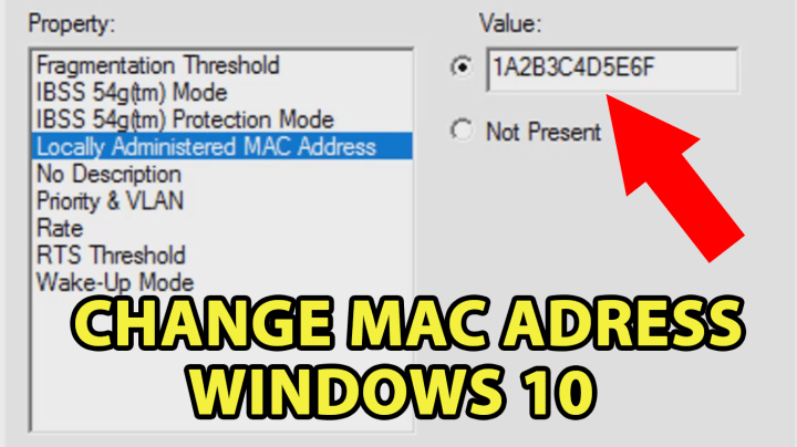 Change Mac Address on Windows 10