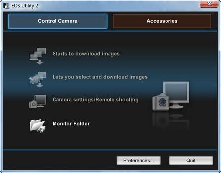 Canon EOS Utility Software