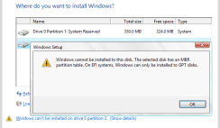 Selected Disk Has an MBR Partition Archives - Professional