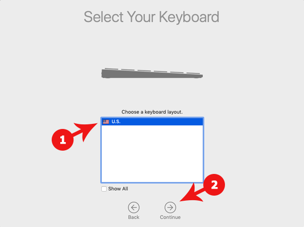 Select Keyboard