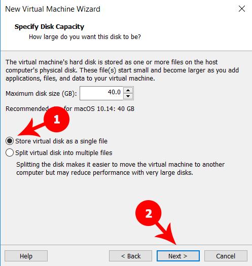 Specify Disk Capacity