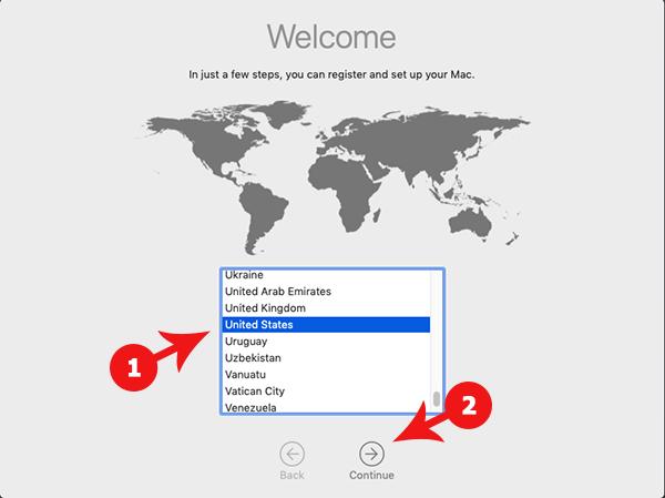 macOS 10.14 Mojave Welcome Screen