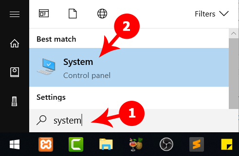 Setting Windows Menu