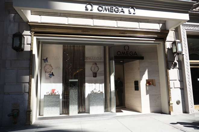 Omega's NYC flagship boutique at 711 5th Ave