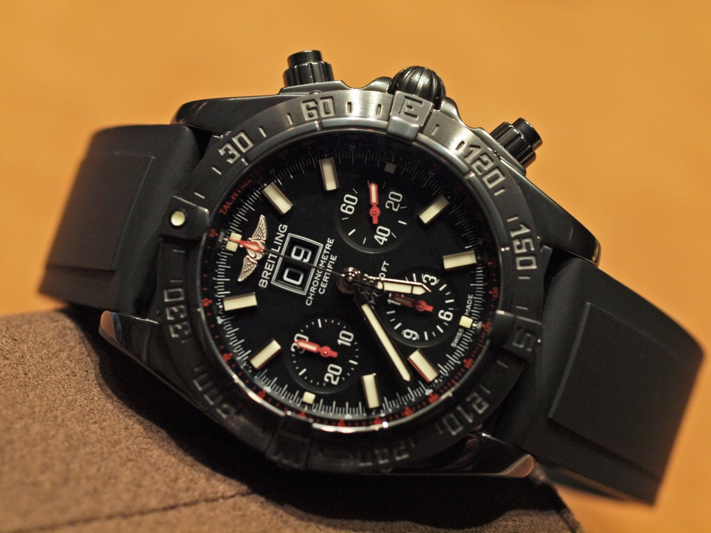 Breitling Blackbird Blacksteel DLC Chronograph