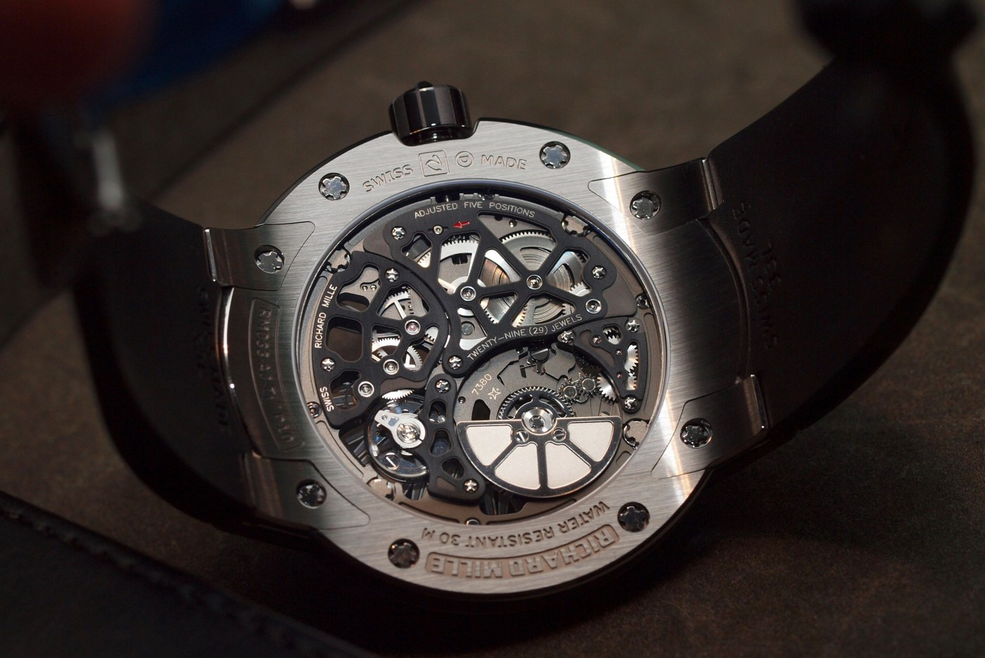 Richard Mille Extra Flat Automatic RM 033 caseback