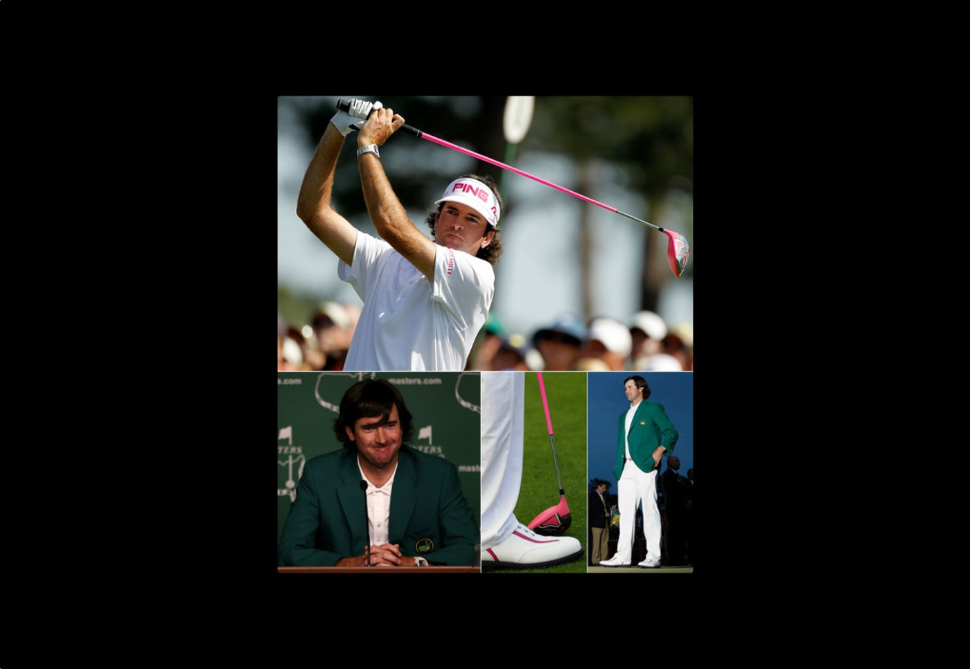 Bubba Watson winning Masters with Richard Mille on his wrist