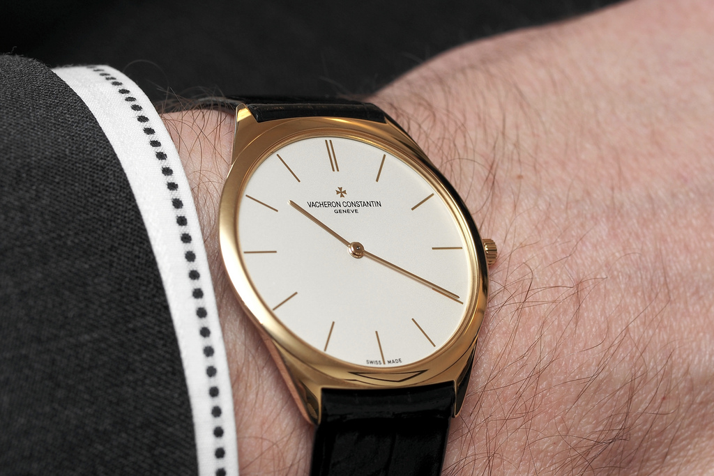 Vacheron Constantin thinnest watch wristshot