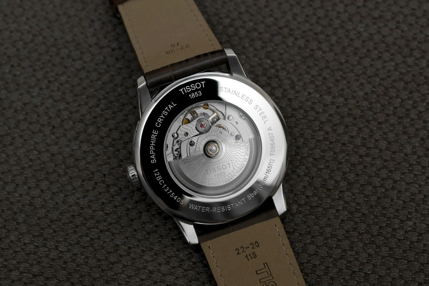 Tissot Powermatic 80 caseback