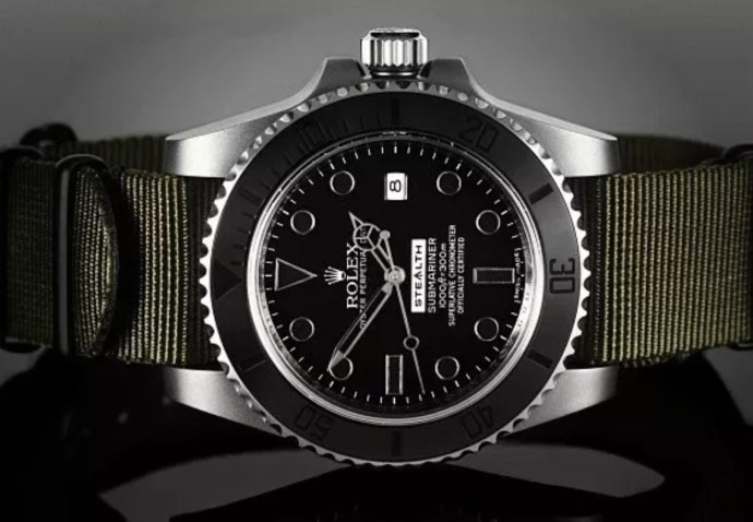 "Rolex Matte Black Ceramic Bezel ""Stealth"" Submariner"