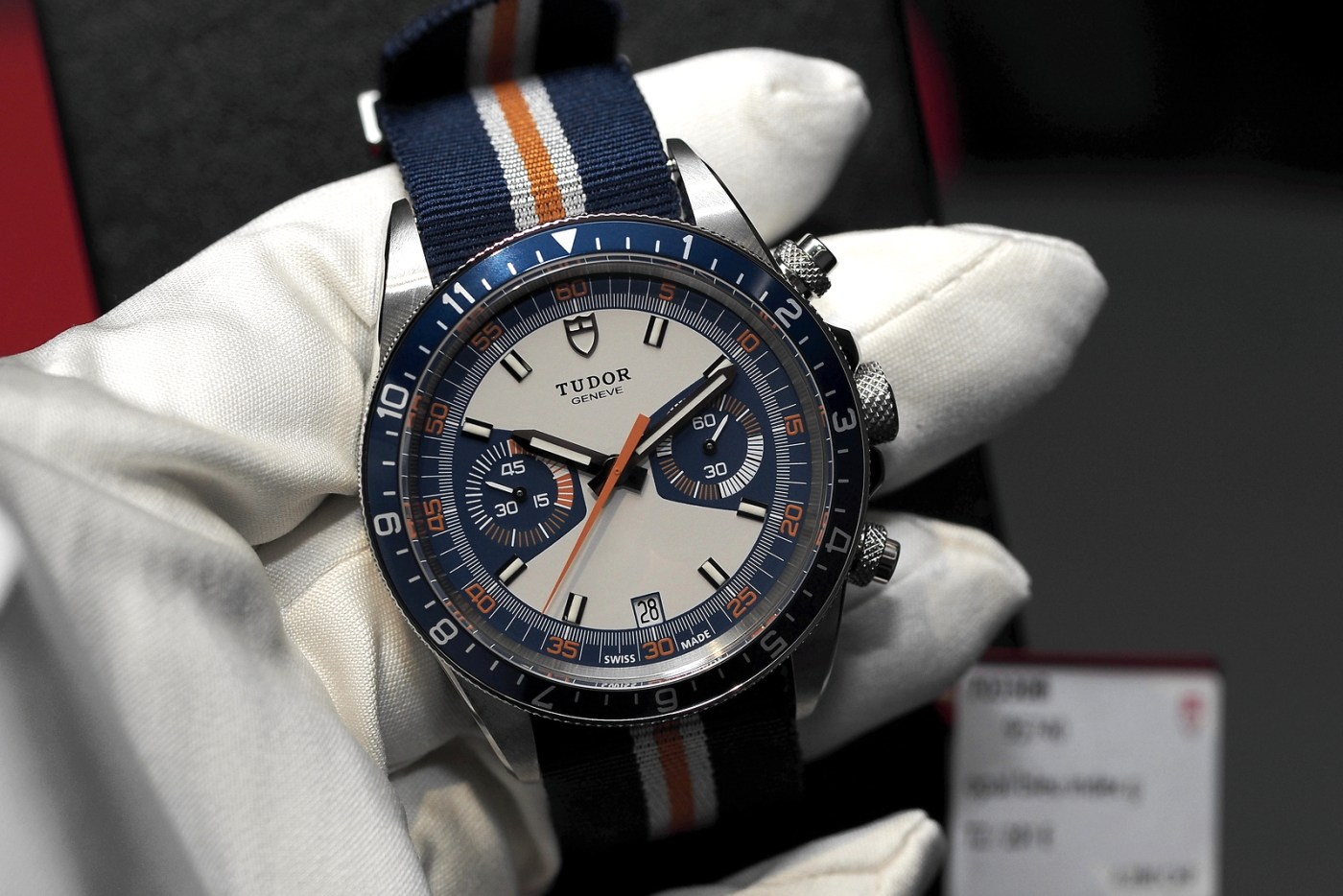 Tudor Heritage Blue Chrono cloth strap