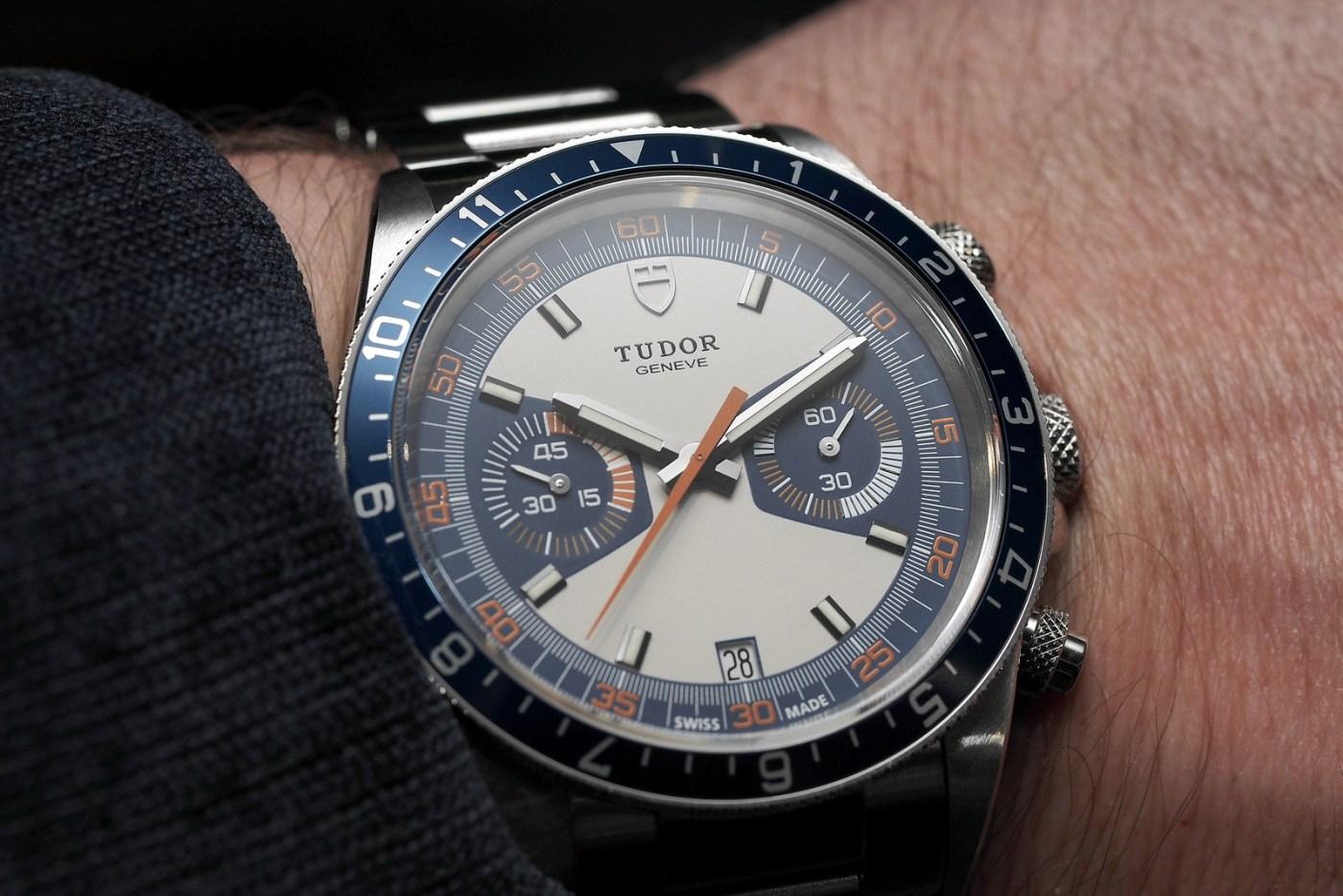 Tudor Heritage Blue Chrono wristshot