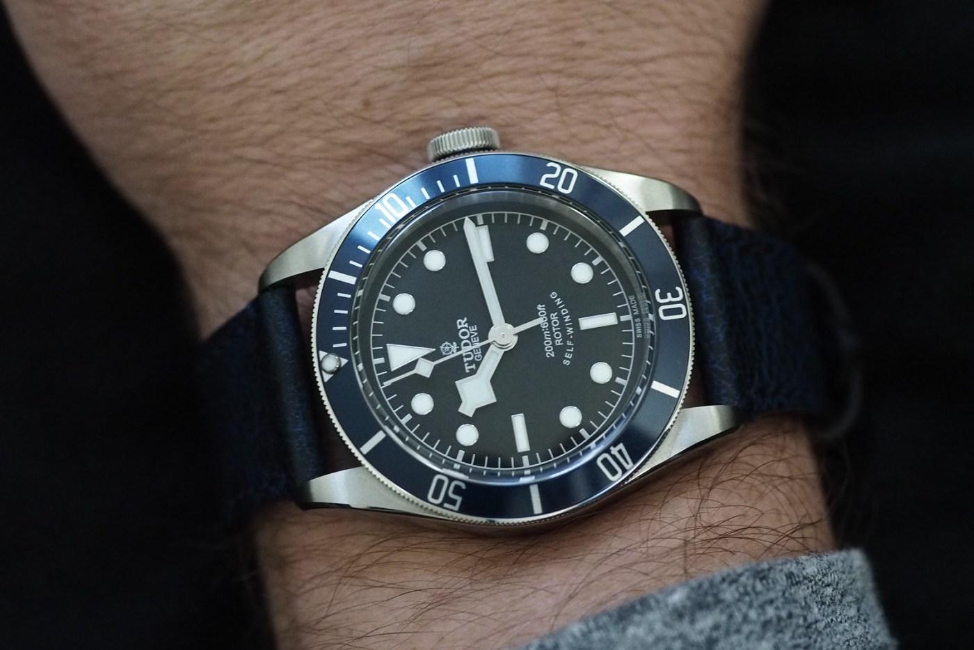 Tudor Black Bay Blue wristshot