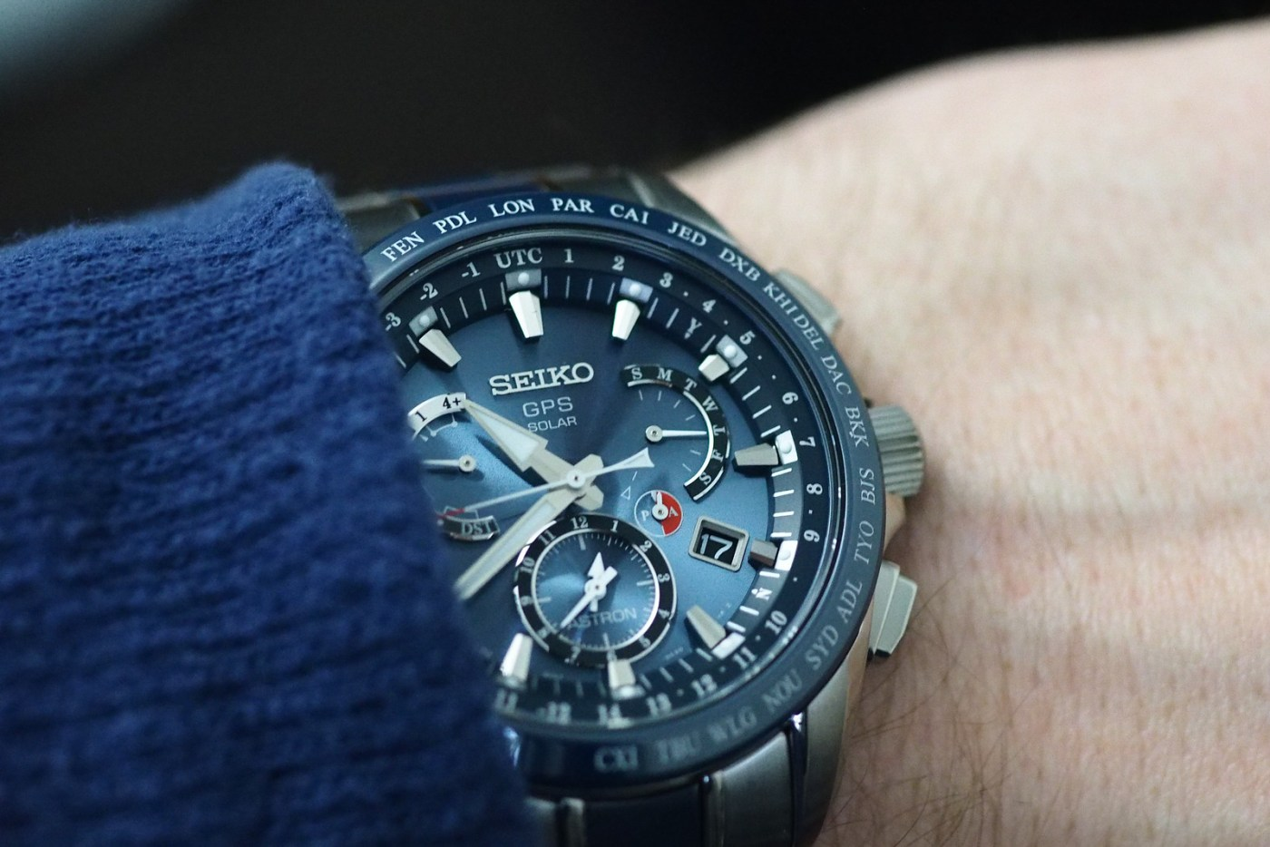 Seiko Astron GPS Solar Dual-Time wristshot