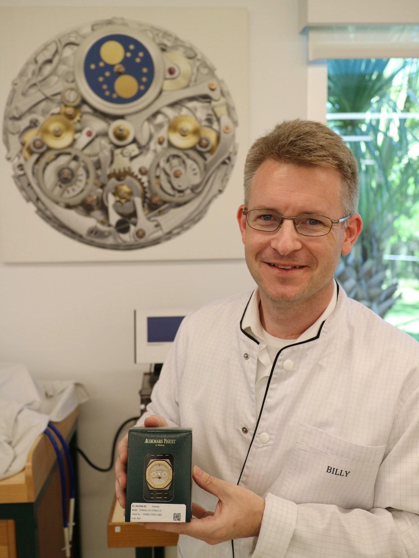 Watchmaker Billy Janshon at Audemars Piguet US Service Center